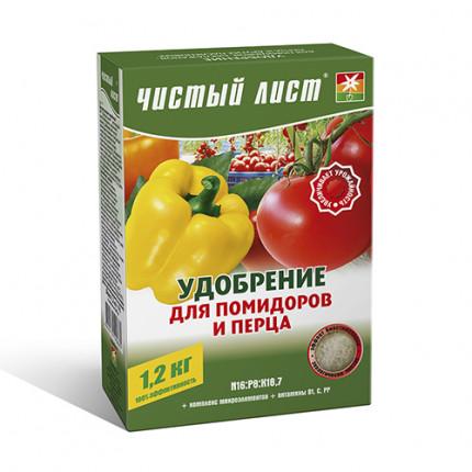 Добриво кристалічне для томатів і перцю Чистий Лист 1.2 кг