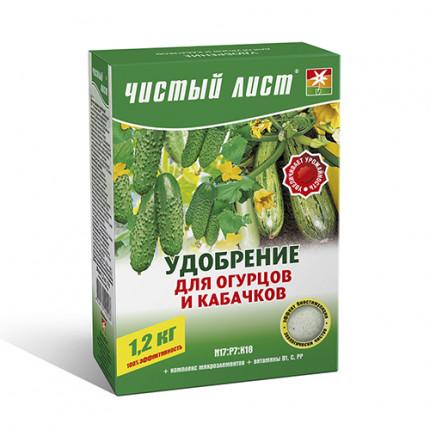 Добриво кристалічне для огірків і кабачків Чистий Лист 1.2 кг