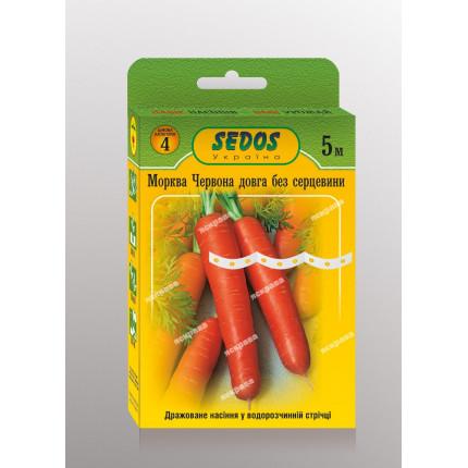 Морква на стрічці Червона довга без серцевини 5м