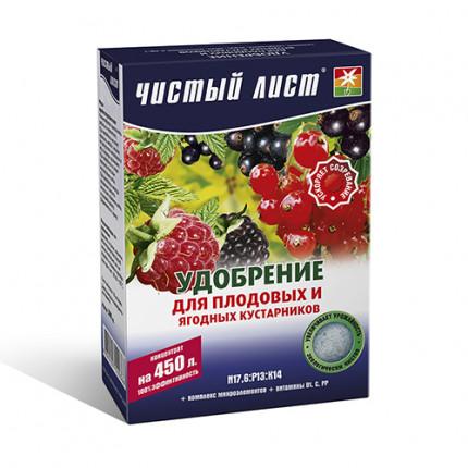 Удобрение кристаллическое для плодовых и ягодных кустарников Чистый Лист 300 г