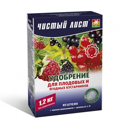 Удобрение кристаллическое для плодово-ягодных кустов Чистый Лист 1.2 кг